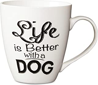 Pfaltzgraff Sentiment Mug 18oz (Life Is Better With A Dog)