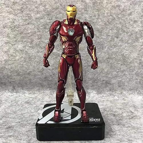 Modèle de Film, Statue de la Collection de Jouets for Enfants en PVC, Sculpture de Personnage, Tony Stark (15.5cm) FKMYS