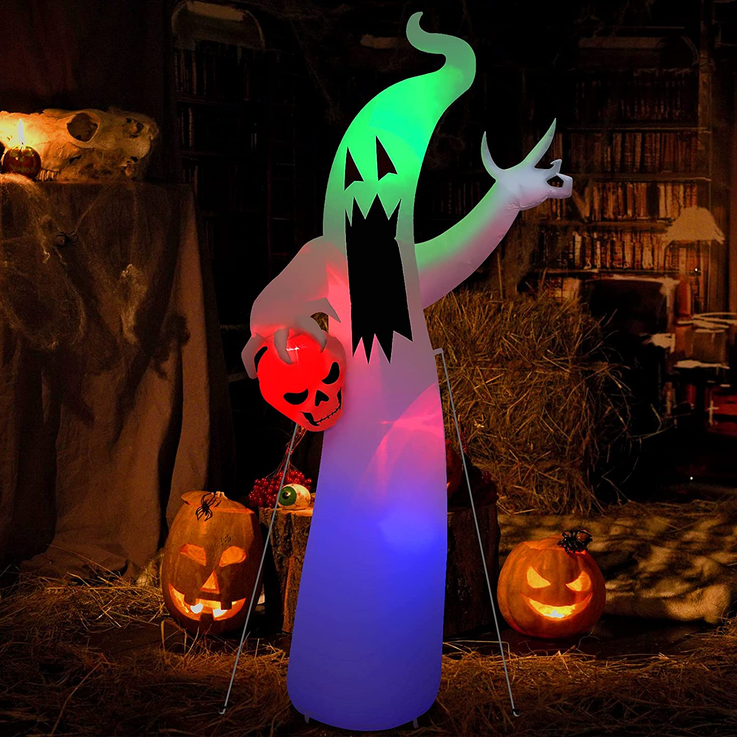 8 Ft Halloween Party Decorations Clearance Outdoor White Attention brand Regular dealer Ghost C