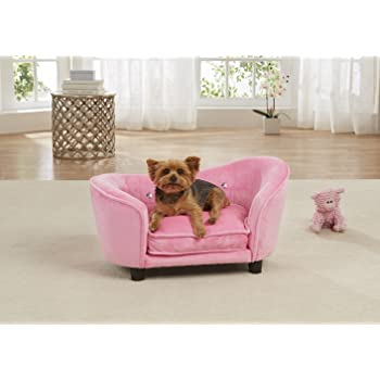Enchanted Home Pet Light Pink Ultra Plush Snuggle Pet Sofa