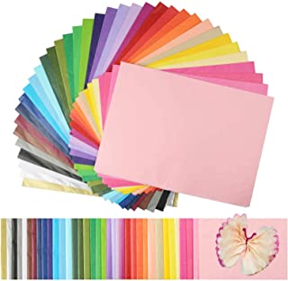 """Superise 360 Sheets 36 Multicolor Tissue Paper Bulk Gift Wrapping Tissue Paper Decorative Art Rainbow Tissue Paper 12"""" x ..."""