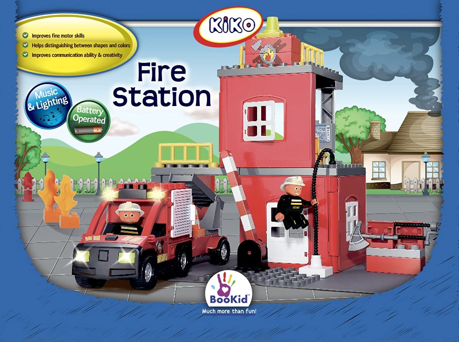 Kiko 943 Fire Station Building Set B01IQY3S32  Mode-Muster | Sehr gute Farbe