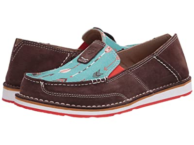 Ariat Cruiser (Chocolate Suede/Turquoise Arrows) Women
