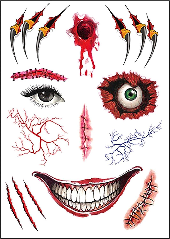 supreme Halloween tattoo stickers Wound realistic horror Max 70% OFF waterproof Simu