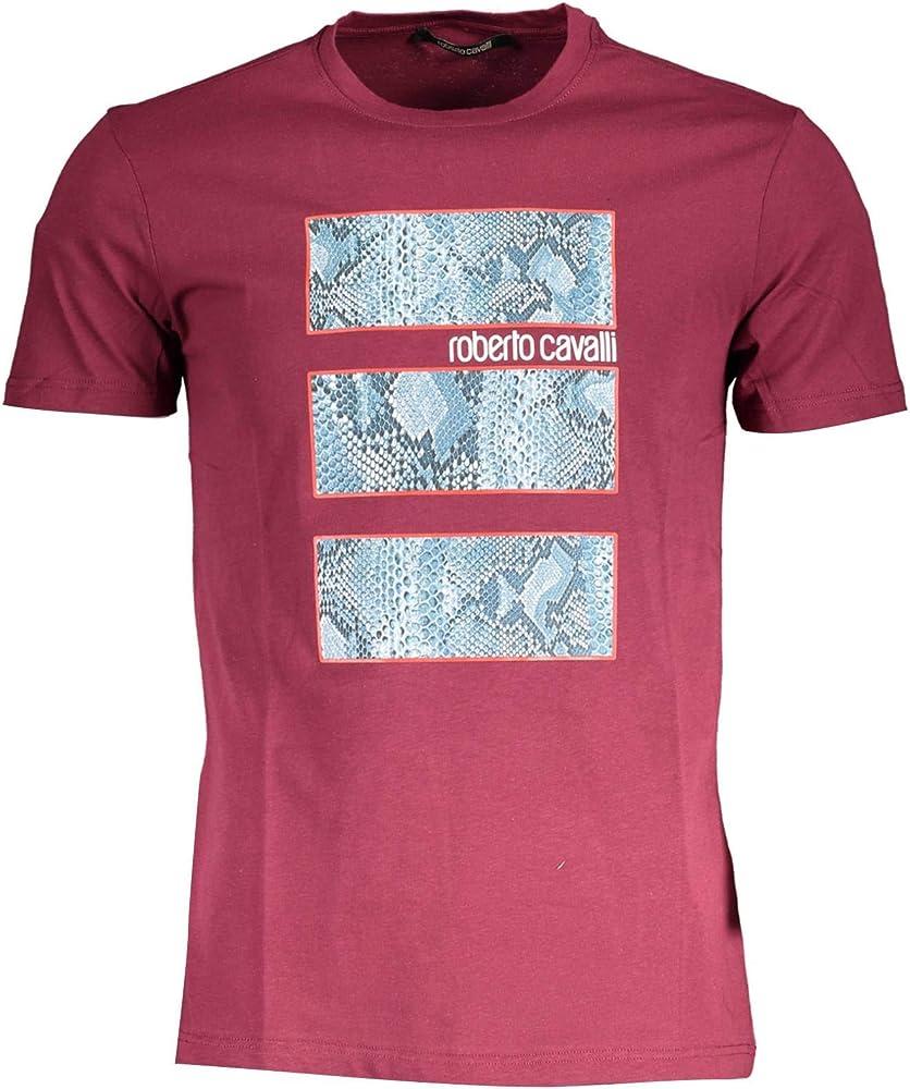 Roberto cavalli,maglietta,t-shirt maniche corte per uomo,100% cotone V-15854