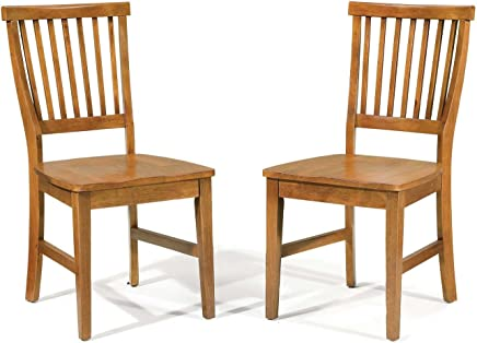 Home Style 5180-802 Arts and Crafts Dining Chair,  Cottage Oak Finish