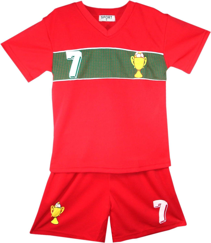 Boys Football Kit Set Summer Shorts New Girls Top Vest Size Age 2-14
