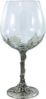 Bicchiere vetro per vino bianco o rosso, personalizzato con incisione elegante facile pulizia grande Calice