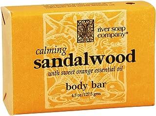 River Soap Co. Sandalwood Soap Triple Milled All Vegetable 4.5 oz.