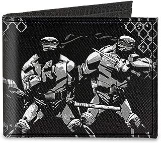 Buckle-Down Men's Canvas Bifold Wallet-Ninja Turtles, Multicolor, 4.0