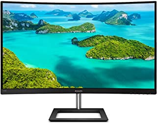 "Philips 328E1CA 32"" Curved Monitor, 4K UHD (3840x2160), 1 Billion+ Colors, 4ms, 97.8% NTSC/120% sRGB, Adaptive-Sync, DP/HD..."