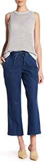 NYDJ Womens MAKL1593 Jamie Relaxed Ankle Jeans in Chambray Denim Jeans - Blue