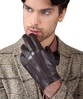 Baeska Men's Genuine Nappa Winter Warm Lambskin Leather Driving Gloves