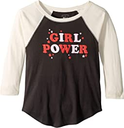 Girl Power Raglan (Little Kids/Big Kids)