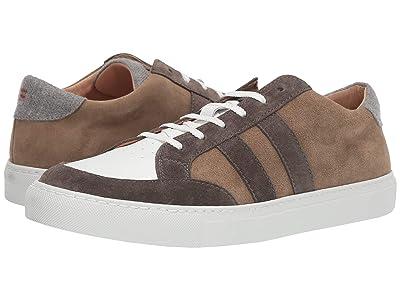eleventy Suede/Leather Sneaker (White/Brown) Men