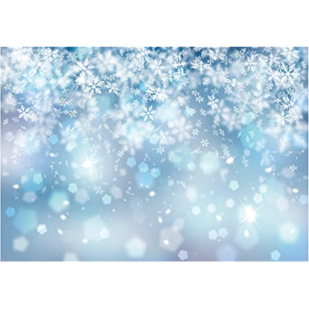 Leowefowa Snowfield Dreamlike Bokeh Haloes Frosty Branches Backdrop 10x6.5ft Child Baby 1st Birthday Backdrop Vinyl Photography Background Wintery Party Banner Baby Shower Kids Photo Booth Props
