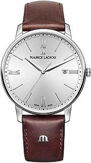 Maurice Lacroix - Reloj Analógico para Hombre de Cuarzo con Correa en Cuero EL1118-SS001-110-1