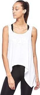 BodyTalk Women's Sleeveless Loose Fit T-Shirt, White, Small