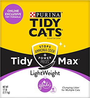 Purina Tidy Cats Clumping, Lightweight, Multi Cat Litter, Tidy Max Glade Clean Blossoms Formula - 17 lb. Box
