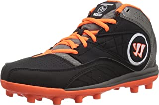 Kids WJVEX2BO Black Graphite/Orange Junior Lacrosse Cleat Shoes Size 2