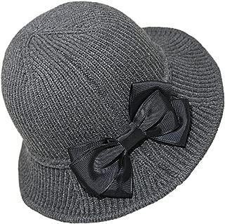 Urban CoCo Women's Wool Blend Foldable Hat Bow Trim Cloche Cap