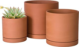 Terracotta Pots for Plants, 4.2 Inch 5.3 Inch 6.5 Inch, Succulent Planter Pot with Drainage and Saucer