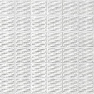 Waterproof Thickening 3D Wall Panels Cube Texture Self-Adhesive 3D Wall Paper Eco-Friendly XPE Foam with Particle 23.6x23.6 Inch (1, White)