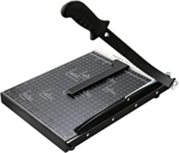Paper Cutter A4 Paper Trimmer Heavy Duty Photo Guillotine Craft Machine 12 inch Cut Length, 12 Sheets Capacity (A4-Black)