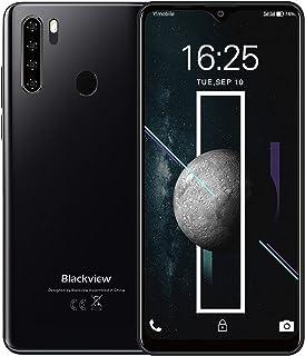 Blackview A80 Plus スマートフォン本体 6.49インチ SIMフリースマホ Android 10 4GB RAM + 64GB ROM 8コア 4680mAh 13MP+8MP シムカードスマホ本体 NFC デュアル4G 顔認...