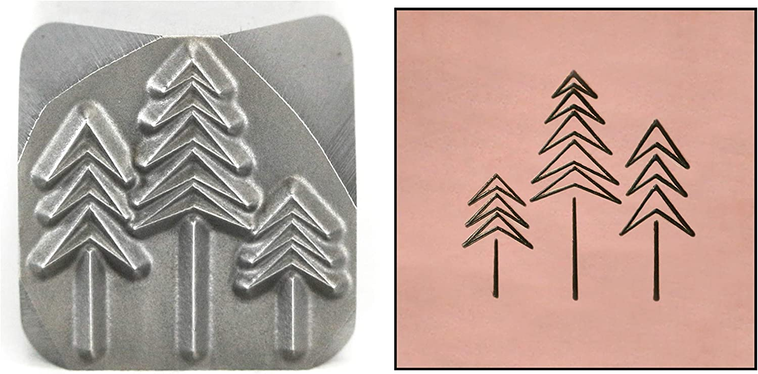 Three Fir Trees Metal Don't miss the campaign Stamp Forest Win Christmas Branded goods 11mm Evergreen