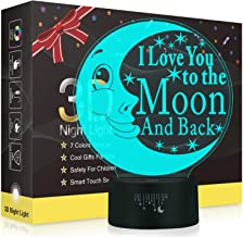 I LOVE YOU 3D LED Optical Illusion Lamps, Rquite 7 Color Change Touch Switch Art Sculpture Lights LED Desk Table Night Light Awesome Gift