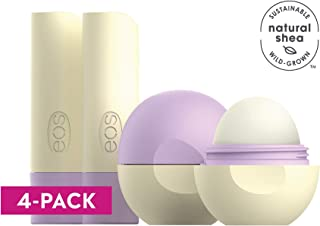 eos flavorlab Sphere & Stick Lip Balm - Lavender Latte | Deeply Hydrates  and Seals in Moisture | 0.25 Oz. Sphere | 0.14 oz. stick | 2 sticks, 2 Spheres