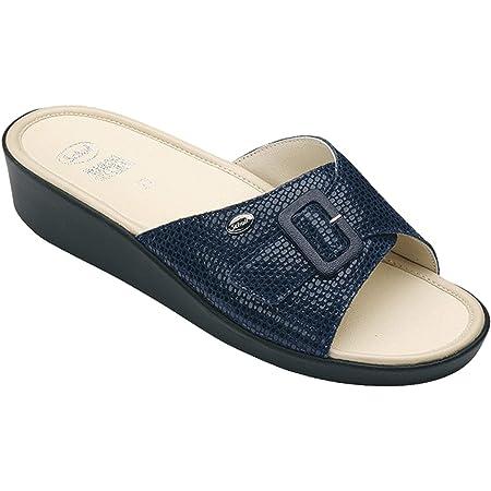 Scholl sandali da donna Mango, numero 38, blu navy, con soletta in memory foam