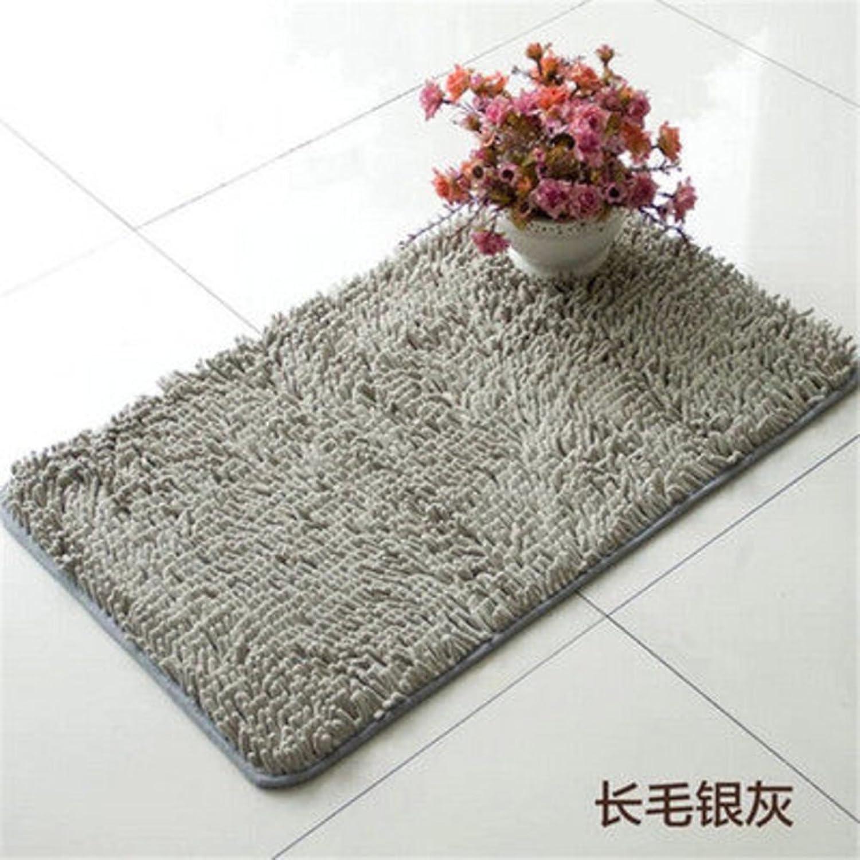 Bathroom Water-Absorbing mat Foot Pad Doormat Long Mao Xue Neil mats Bathroom Anti-Slip mat-F 70x140cm(28x55inch)