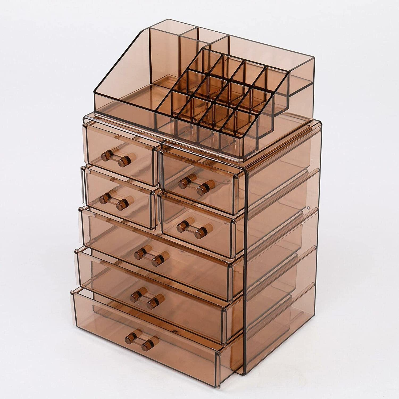 Acrylic Cosmetic Makeup Organizer Jewelry Large cheap 3 Box Storage 4 safety