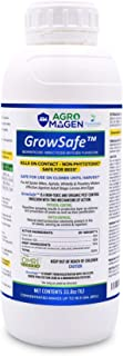 AgroMagen (GS420), GrowSafe Bio-Pesticide, Natural Miticide, Fungicide and Insecticide, for Organic Gardening, Non-Toxic, Concentrate 33.8 Ounce