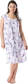 Women's Cap Sleeves Floral Lace Nightgown