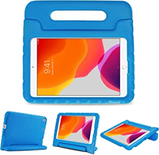 """ProCase Kids Case for iPad 7th Gen 10.2"""" 2019 / iPad Air 10.5"""" (3rd Gen) / iPad Pro 10.5"""", Shockproof Convertible Handle Stand Cover Light Weight Kids Friendly Case for iPad 10.2 Inch/Air 3 -Blue"""