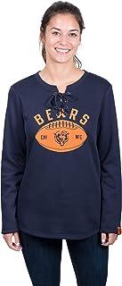 Icer Brands NFL Chicago Bears Women's Fleece Sweatshirt Lace Long Sleeve Shirt, Medium, Navy