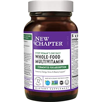 New Chapter Women's Multivitamin + Immune Support – Every Woman's One Daily with Fermented Nutrients - 72 Ct (Packaging May Vary)