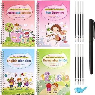 UNIA Magic Practice Copybook for Kids, Reusable Writing Practice Book Set, The Print Handwiriting Workbook, Calligraphy Tr...