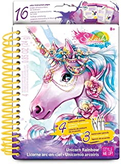 Style Me Up - Unicorn Coloring Book for Girls. Art and Craft DIY Kit with Instructions - Magic Unicorn Collection - SMU-1305