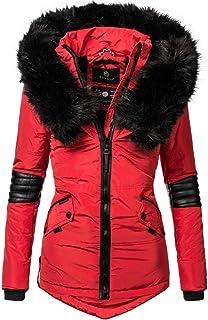 : manteau hiver femme Rouge