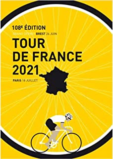 LIWENHAO Poster Classic Tour France Poster Wall Art Painting Vintage Bike Poster Room Decoration50X70Cm Moisture-Proof and...