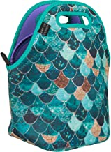 ART OF LUNCH Insulated Neoprene Lunch Bag for Women, Men and Kids - Artist Monika Strigel (Germany) and Art of Liv'n have Partnered to donate $.40 per sale to Pacific Whale Foundation - Really Mermaid