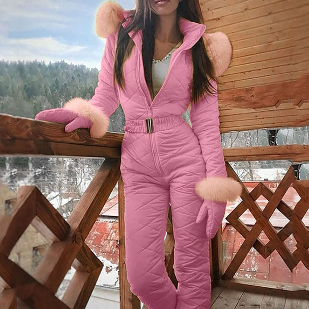 Chaofanjiancai/_Suits Set Womens One Pieces Ski Suits Jumpsuits Coveralls Winter Warm Outdoor Snowsuits for Snow Sports