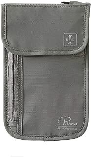 TRIWONDER RFID Blocking Passport Holder - Waterproof Travel Passport Wallet Document Organizer Bag For Men & Women, Gray (Grey) - OS3411