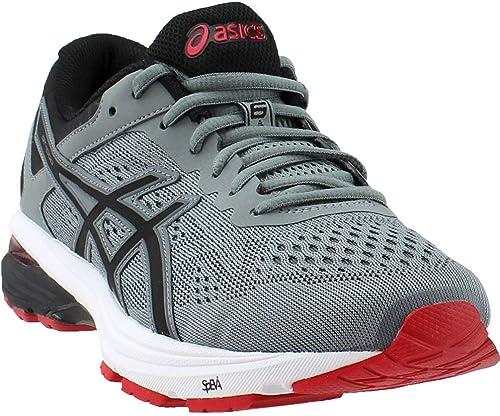ASICS Men's GT-1000 6 Running schuhe, Stone grau schwarz rot, 8 M US