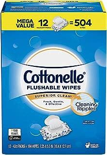 Cottonelle Fresh Care Flushable Cleansing Cloth, 504 Count