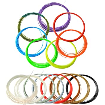 WOL3D's Premium 3D Pen Filament of 1.75mm. 8 Random Colours of 5m Each and PLA Material.